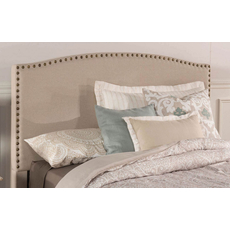 Hillsdale Furniture Kerstein Fabric Upholstered Headboard with Bed Frame in Light Taupe Full Size