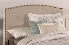 Hillsdale Furniture Kerstein Fabric Upholstered Headboard with Bed Frame in Light Taupe King Size