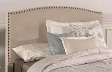 Hillsdale Furniture Kerstein Fabric Upholstered Headboard with Bed Frame in Light Taupe Twin Size