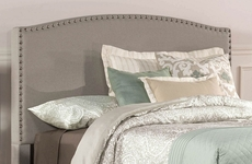 Hillsdale Furniture Kerstein Fabric Upholstered Headboard in Dove Gray Twin Size