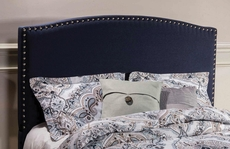 Hillsdale Furniture Kerstein Fabric Upholstered Headboard in Navy Linen Full Size