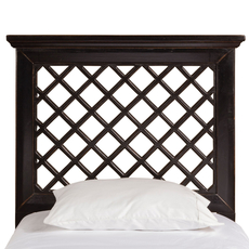 Hillsdale Furniture Kuri Headboard with Bed Frame in Rubbed Black King Size