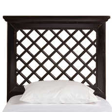 Hillsdale Furniture Kuri Headboard with Bed Frame in Rubbed Black Twin Size