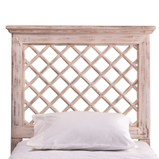 Hillsdale Furniture Kuri Headboard in Distressed White King Size