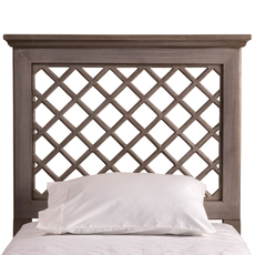 Hillsdale Furniture Kuri Headboard with Bed Frame in Distressed Gray King Size
