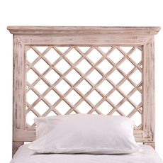 Hillsdale Furniture Kuri Headboard with Bed Frame in Distressed White King Size