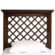 Hillsdale Furniture Kuri Headboard with Bed Frame in Light Walnut King Size