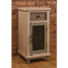 Hillsdale Furniture LaRose Door Cabinet with Chicken Wire