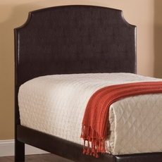 Hillsdale Furniture Lawler Headboard with Bed Frame in Brown Faux Leather Full Size