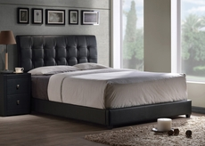 Hillsdale Furniture Lusso Bed with Black Faux Leather King Size