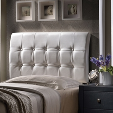 Hillsdale Furniture Lusso White Faux Leather Headboard with Bed Frame King Size