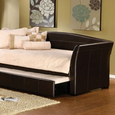 Hillsdale Furniture Montgomery Brown Faux Leather Daybed with FREE Trundle - Closeout!