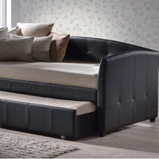 Hillsdale Furniture Napoli Brown Faux Leather Daybed with FREE Trundle - Closeout!