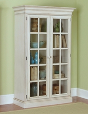 Hillsdale Furniture Pine Island Large Library Cabinet in Old White
