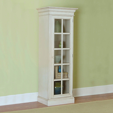 Hillsdale Furniture Pine Island Small Library Cabinet in Old White