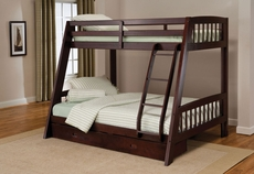 Hillsdale Furniture Rockdale Bunk Bed in Espresso