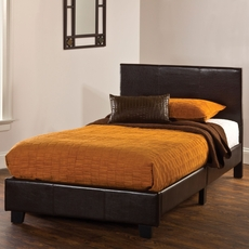 Hillsdale Furniture Springfield Twin Bed in a Box in Brown Polyurethane