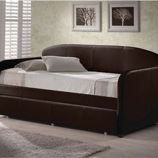 Hillsdale Furniture Springfield Faux Leather Daybed with FREE Trundle - Closeout!
