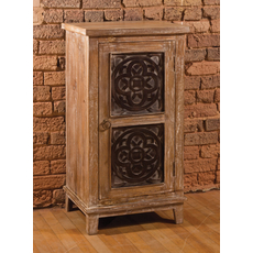 Hillsdale Furniture Toulon 3 Tier Cabinet in Beige Finish
