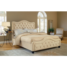 Hillsdale Furniture Trieste Fabric Upholstered Bed in Buckwheat King Size