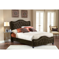 Hillsdale Furniture Trieste Fabric Upholstered Bed in Chocolate King Size