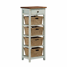 Hillsdale Furniture Tuscan Retreat 4 Basket Stand in Sea Blue