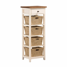 Hillsdale Furniture Tuscan Retreat 4 Basket Stand in Country White