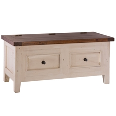 Hillsdale Furniture Tuscan Retreat Blanket Box in Country White
