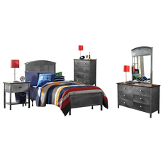 Hillsdale Furniture Urban Quarters 5 Piece Panel Bedroom Set