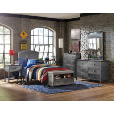 Hillsdale Furniture Urban Quarters 5 Piece Panel Bedroom Set with Footboard Bench