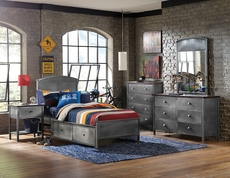 Hillsdale Furniture Urban Quarters 5 Piece Panel Storage Bedroom Set