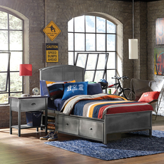 Hillsdale Furniture Urban Quarters Panel Storage Bed Twin Size