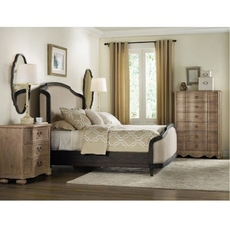 Hooker Furniture Corsica King Upholstered Shelter Bedroom Set