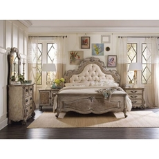 Hooker Furniture Chatelet King Upholstered Panel Bedroom Set