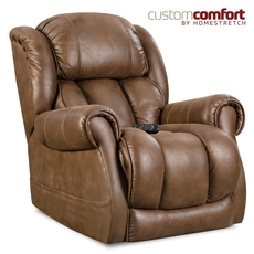 HomeStretch Atlantis Power Wall-Saver Recliner with Power Headrest and Power Lumbar Foot Extension in Cognac