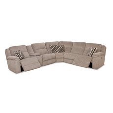 HomeStretch Catalina Power Reclining Left Side Console Loveseat Sectional in Platinum