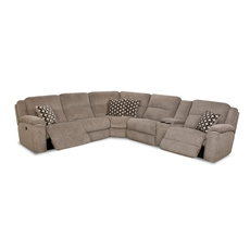 HomeStretch Catalina Power Reclining Right Side Console Loveseat Sectional in Platinum