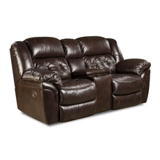 HomeStretch Cheyenne Power Console Loveseat in Whiskey