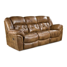 HomeStretch Cheyenne Power Reclining Sofa in Saddle