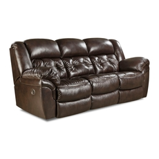 HomeStretch Cheyenne Reclining Sofa in Whiskey