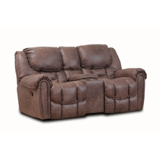 HomeStretch Del Mar Power Console Loveseat in Mocha