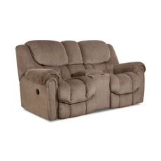 HomeStretch Del Mar Rocking Console Loveseat in Taupe