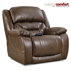 HomeStretch Enterprise Power Wall-Saver Recliner with Power Headrest and Power Lumbar Foot Extension in Walnut