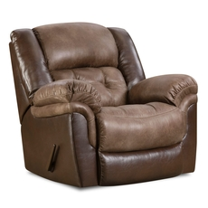 HomeStretch Fenway Rocker Recliner in Taupe and Espresso