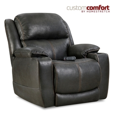 HomeStretch Starship Home Theater Recliner with Power Headrest and Power Lumbar Foot Extension in Eclipse