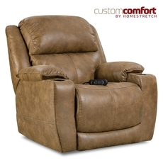 HomeStretch Starship Home Theater Recliner with Power Headrest and Power Lumbar Foot Extension in Saddle