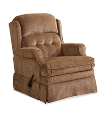HomeStretch Virginia Swivel Glider Recliner in Camel