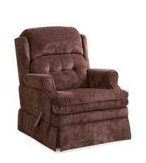 HomeStretch Virginia Swivel Glider Recliner in Java
