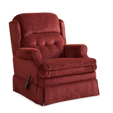 HomeStretch Virginia Swivel Glider Recliner in Persimmons