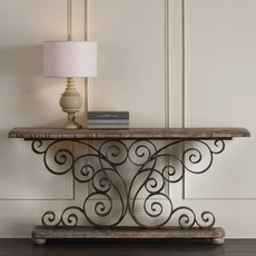 Hooker Furniture Accents Metal Scroll Console